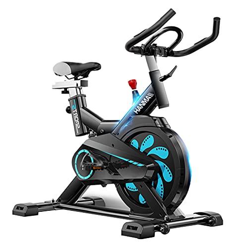 Spinning Bike Bicicleta De Ejercicio con IPAP Soporte, Bicicleta De Bicicleta Estacionaria Interior con Volante Pesado, Bicicleta De Giro Tranquila con Correa