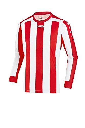 JAKO Herren Fußballtrikots LA Trikot Inter, mehrfarbig (Rot/Weiß), L, 4362