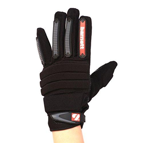 BARNETT FLG-02 American Football Handschuhe Linemen New fit, OL,DL Schwarz (S)