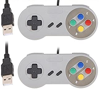 REES52 USB Controller, 2 Pack USB Wired Retro Classic Game Controller Joypad Game Pad for Windows Laptop PC Mac and Raspbe...
