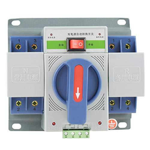Interruptor de disyuntor, interruptor de transferencia automática de doble potencia, interruptor de ahorro de energía 1pc 220V 63A para la escuela para el hogar para edificios de oficinas