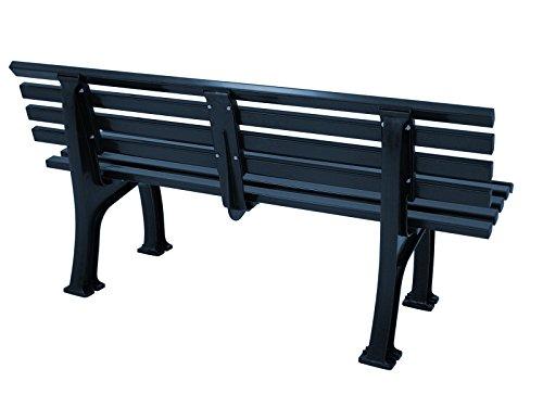 Wetterfeste Parkbank 3-sitzer, Kunststoff blau - 3