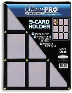 Ultra Pro UPSCR9CD スクリューダウン - ブラック & クリアフレーム - 9カードブラックホルダー