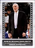 2019-20 Panini Stickers Basketball #3 Gregg Popovich Season Highlight San Antonio Spurs NBA Basketball Mini Sticker Trading Card (Small & Peelable)