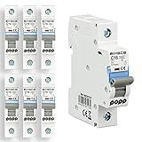 POPP® Interruptor Automático Magnetotérmico 1P serie MSC8 gama Industrial CURVA C corte 6000A 6A,10A,16A,20A,25A,32A,40A,63A Pack 6,12 (16A, Pack 6)