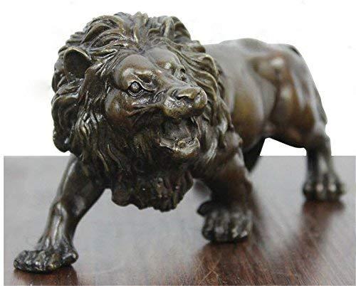 Gpzj Sculpture Bronze Lions féroces Animaux Sauvages Figure Statue Figurine/Cadeaux/Bureau/Ornement/Artisanat/décorations pour la Maison