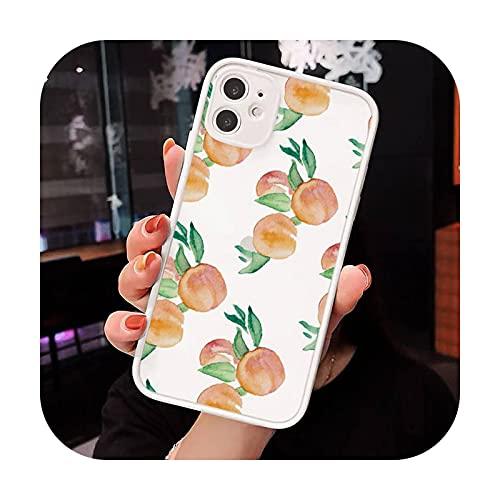 Peach - Carcasa para iPhone 7 8 x XS XR 11 12 Pro Plus Max Mini Funda-a6-iPhone8plus
