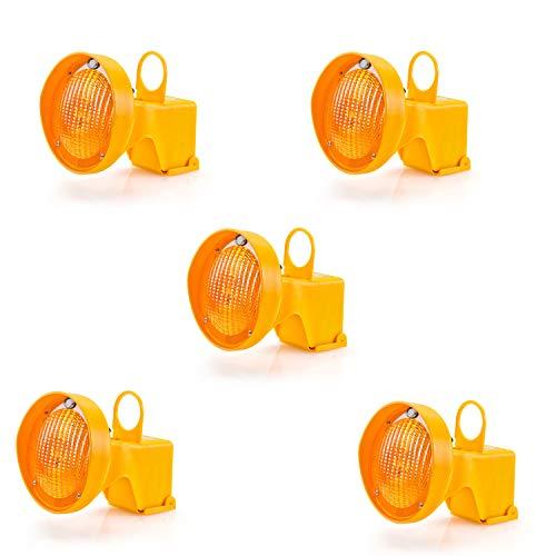 UvV CONY Synchron Leitkegel Aufsteck Warnleuchte Blinkleuchte gelb inkl. Batterien (5)