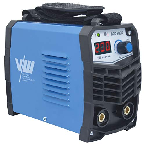 Lichtbogenschweißgerät Schweißgerät Elektrodenschweißgerät 200 Ampere mit Tragegurt und digitalem Anzeigedisplay von Vector Welding