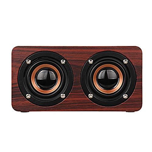 Kaper Go W5 hölzerner doppelter Lautsprecher 10W Karte Bluetooth Lautsprecher Geschenk Handy Minilautsprecher Drahtloser Subwoofer