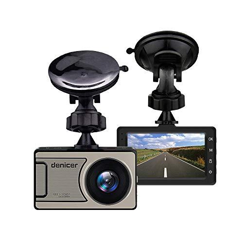 Grabadora de conducción HD de 1080p, 170 Grados de Gran Angular, cámara de visión Nocturna HD, Pantalla de 3,0 HD, Cuerpo de Metal, Sensor de Gravedad, grabación de Bucle (incluida la Tarjeta SD)