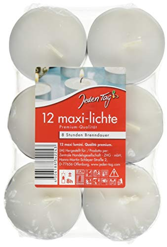 Jeden Tag Maxi- Lichte Flatpack, 12 Stück