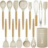 14 Pcs Silicone Cooking Utensils Kitchen Utensil Set, 446°F Heat Resistant,Turner...