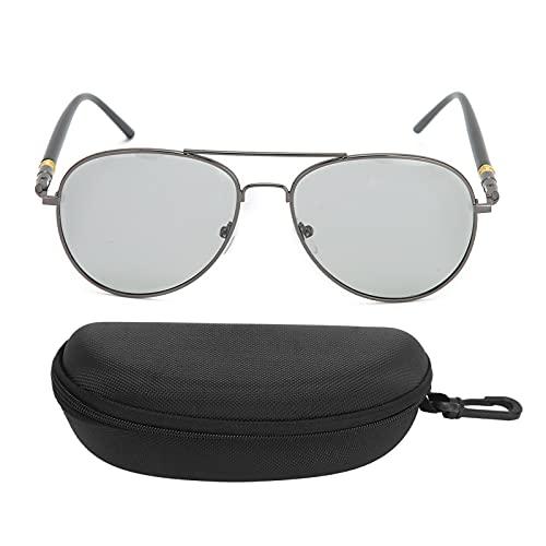 Gafas masculinas anti-UV, gafas de sol polarizadas fotosensibles que cambian de color automáticamente, gafas de lentes polarizadas