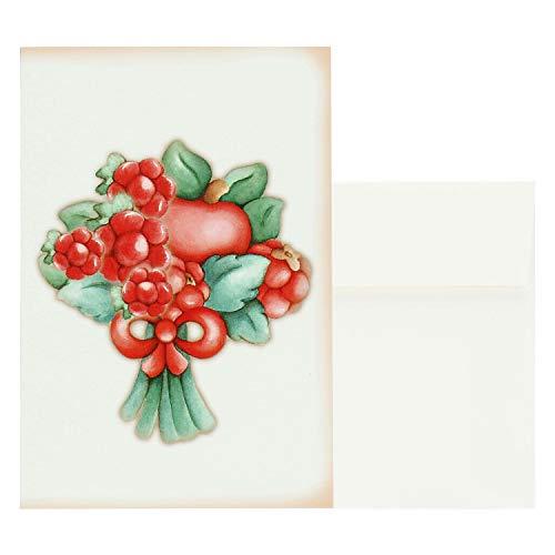 THUN ® - Biglietto d'auguri Grande Linea Frutti Rossi - Carta - 11x16 cm