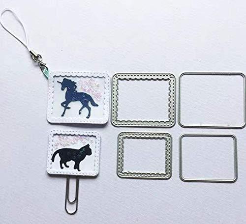 RKZM rechthoekige shake Card Lace messen papier machine koolstofstaal etsen snijden sjabloon paperclips bladwijzers sterven