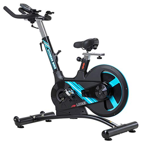 Spinning Bike Exercise Bike For Home Thuis Ultrastille Hometrainer Crosstrainers Fitnessapparaten Fitnessapparatuur (Color : Black, Size : 144 * 63 * 133cm)