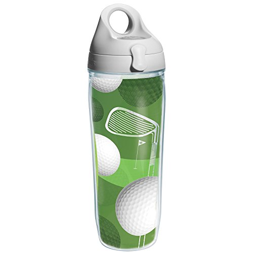 Tervis Golf Balls Wrap and Water Bottle with Grey Lid, 24-Ounce, Beverage - 1163792