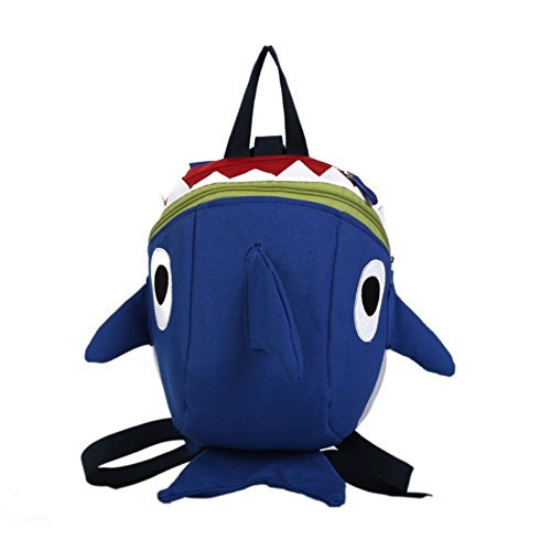 Kids Toddler Backpack with Rein Cute Baby Shark Bag Nursery Bag 3D Cartoon Schoolbag Kindergarten Bag Primary School Bags Anti-Lost Leashes Book Bag Satchel for Boys Girls with Panda Keychain Gift