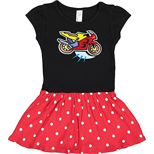 inktastic Crotch Rocket Infant Dress 24 Months Black & Red with Polka Dots
