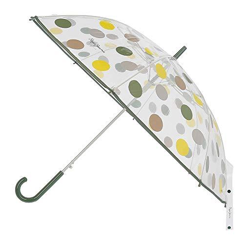 Paraguas Pepe Jeans Isa bastón Grande automático Verde