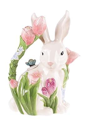 Blue Sky Ceramic Bunny Teapot, Multicolor