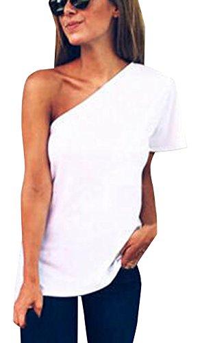 Donna Maglietta Manica Lunga Girocollo Allentato Pizzo Casuale Camicetta T-Shirt Tops Camicetta Estiva a Manica Lunga in Bluse Leggero CLOOM Camicetta Donna Elegante