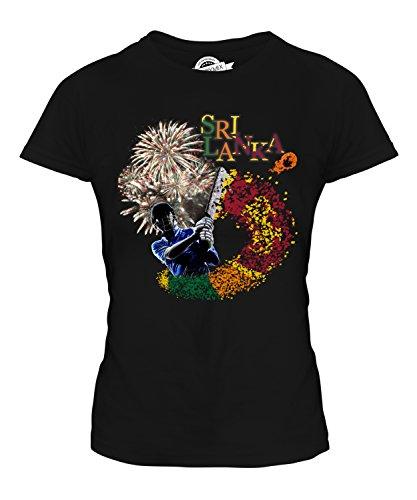 Candymix Sri Lanka Cricket Damen T Shirt, Größe X-Small, Farbe Schwarz