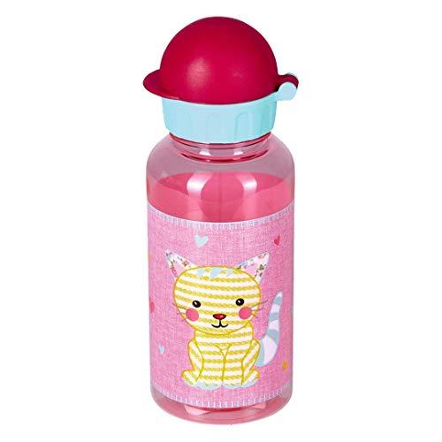 Die Spiegelburg Kleine Freunde Trinkflasche Katze Wasserflasche Mädchen Rosa