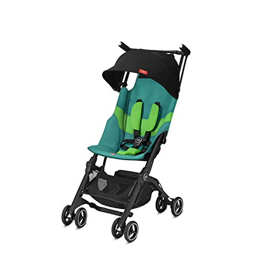 gb Gold Buggy Pockit+ All Terrain, Ultrakompakt, Ab 6 Monate bis 17 kg (ca. 4 Jahre), Laguna Blue