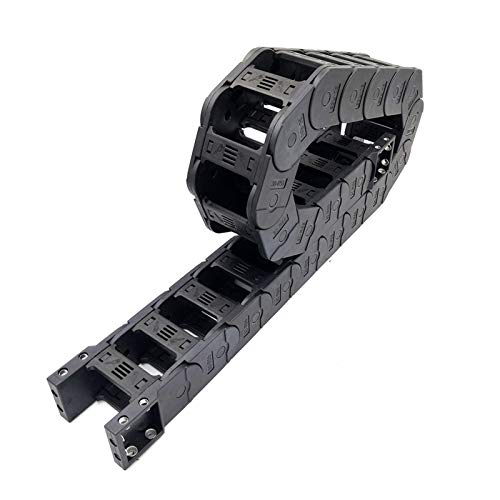 Towline Cable Drag Chain,Plastic Towline 1 Meter 30x60mm Drag Chain Transmission Wire Carrier Cable with End Connector Towline for CNC Router Machine Tools Cable Chains Bridge Type