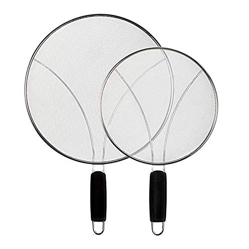 Viudecce 2Pcs Oil and Grease Splatter Screen Extra Fine Splatter Screen Mesh Stops 99% of Grease Pops and Splattering