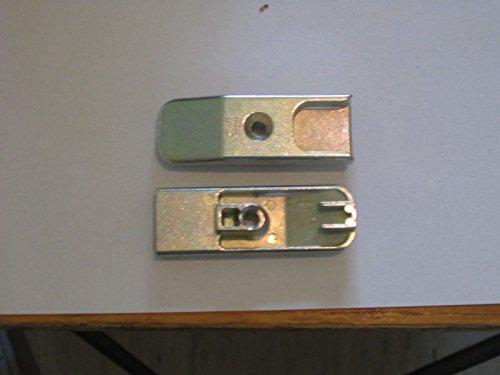 Siegenia Schliessblech 56 Titan Silber Typ 0807 auch A0807 für Holz Euronut