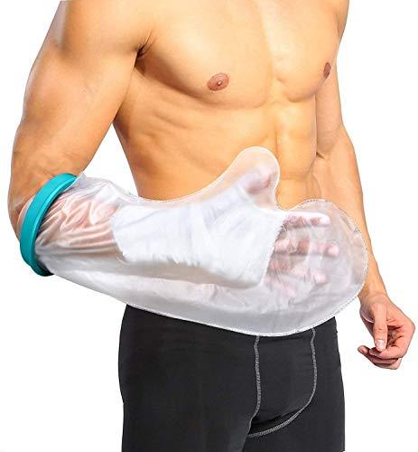 Doact Waterdichte Armbeschermer Voor Volwassenen, Gipsbescherming Douchebescherming Voor Handdouche, Douchen met Gips, Douchebescherming Hand, Polswonden, Verband Tijdens Het Baden Droog Houden (56cm)