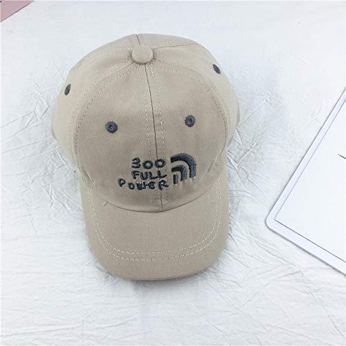 mlpnko Kinder Hut Super Feuer EIS Farbe Baseball Cap bestickte Mütze Männer und Frauen Baby Hip Hop Hut beige 2-6 Jahre alt
