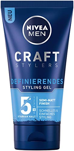 Nivea Men Craft Stylers Definierendes Styling Gel, Haargel mit Semi-matt Finish, schnelles und einfaches Haarstyling mit starkem Halt, 1er-Pack (1 x 150 ml)