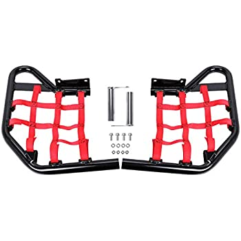 HECASA Side Steps Foot Pegs Compatible with Yamaha Raptor 700 YFM YFM700  Red