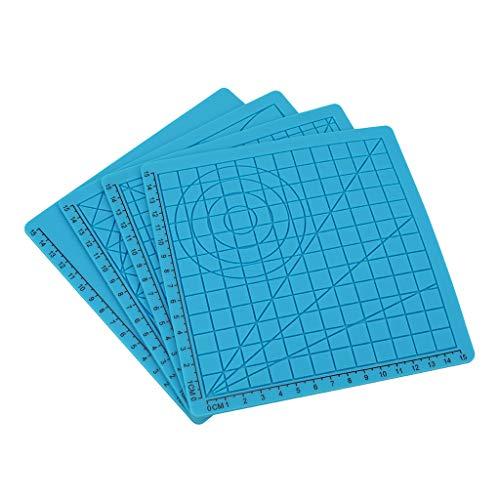 KESOTO Alfombrilla para Bolígrafo de Impresión 3D Herramienta de Dibujo de Múltiples Formas Plantilla Básica Alfombrilla de Diseño para Bolígrafo de Impresió