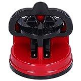 Afilador De Cuchillos, Afilador De Tijera Resistente Al Desgaste ABS + Acero De Tungsteno para Afilar Cuchillos para Cocina(Rojo)