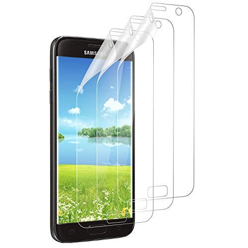 Mriaiz Schutzfolie für Samsung Galaxy S7, (3 Pack) TPU Transparent Weich Folie Anti-Kratzer & Anti-Bläschen, Volle Abdeckung Ultra Klar Ultra Dünn Displayschutzfolie für Samsung Galaxy S7