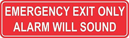 Tamengi 10x3 inch nooduitgang alleen alarm zal geluid Sticker Vyl teken Stickers voor Art Decor