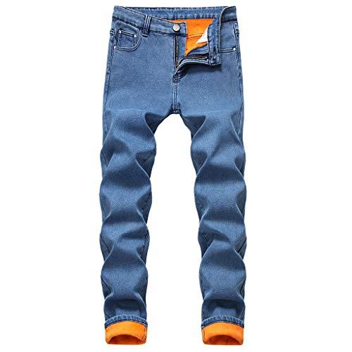 Heren winterjogger cargo chino jeans broek elastische heupband met zakken vrije tijd denim straight jeans pluche verdikkingsbroek lange broek 42 EU donkergrijs