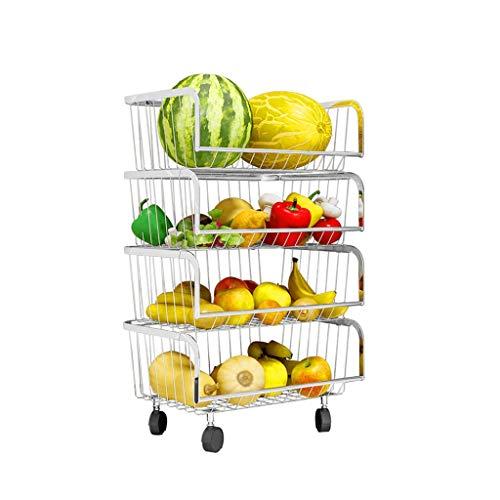 Review Of WGZ- Fruit Vegetable Storage Rack Kitchen Storage Floor Multi-layer Plastic Household Frui...