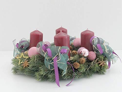 Adventskranz Gewürze Tannenbaum Tanne Goldrot Weihnachten Kranz Gold Advent Zitronen Kugeln Hirsche Schleifen Bänder Sterne Kugeln Hirsche Rehe Kerzen