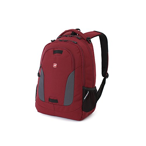Swiss Gear SA6907 Laptop Computer Tablet Notebook Backpack - for School, Travel, Carry On Luggage, Women, Men, Student, Professional Use - Crimson Red, 19 inches