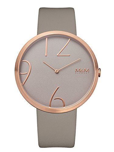 M&M Damen Analog Quarz Uhr mit Leder Armband M11881-898