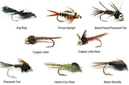 Feeder Creek Fly Fishing All items free shipping Assortment 8 Famous with Indianapolis Mall Nymph Patterns