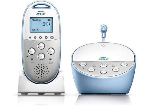 Philips Avent SCD570/00 - Vigilabebés DECT con alerta vibración, alcance hasta 330 m