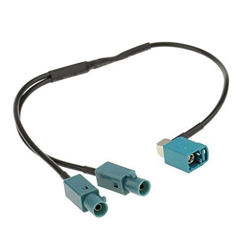 Gazechimp Adaptateur D'antenne Plug de Fakra Connecteur de Diviseur