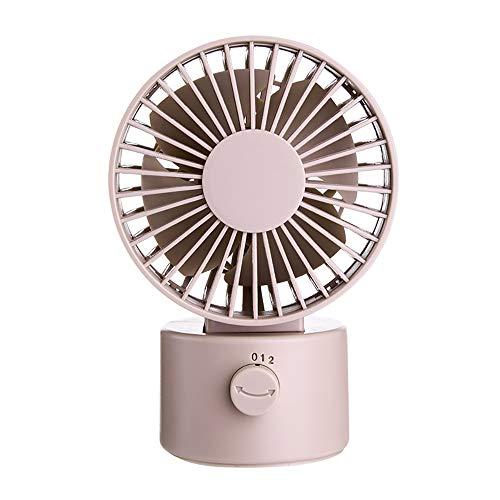 CYYDBB Tisch Ventilator Kreatives Rotierendes Schütteln Futaba Windmaschine Retro Stil USB Stumm Schalten Leiser Ventilator Schütteln Sie Ihren Kopf Mit Einem Knopf,Zwei Geschwindigkeiten